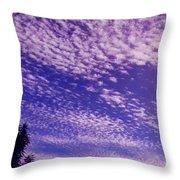 Purple Sky At Casapaz Throw Pillow