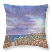 Purple Sky Throw Pillow