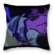 Purple Smash Throw Pillow