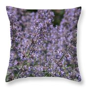 Purple Spikes Flora Impression 6.8.17  Throw Pillow