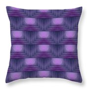 Purple Sun Deco Throw Pillow