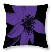 Purple Sunflower Throw Pillow