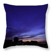 Purple Sunrise Oct 2015 Throw Pillow