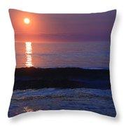 Purple Sunrise On Nauset Beach Throw Pillow