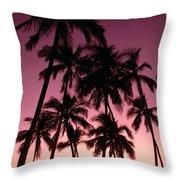 Purple Sunset Throw Pillow