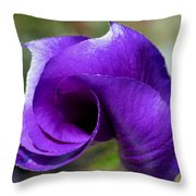 Purple Vortex Throw Pillow by Ekta Gupta