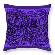 Purple Swirls Throw Pillow