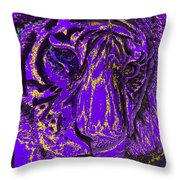 Purple Tiger Throw Pillow