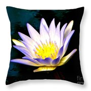 Purple Tipped Water Lily Throw Pillow