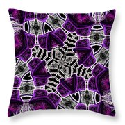 Purple Top Hats Kaleidoscope Throw Pillow
