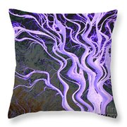 Purple Tree Throw Pillow