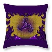 Purple Tripolar Throw Pillow