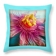 Purple Tropic Throw Pillow