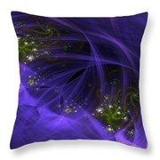 Purple Universe Throw Pillow