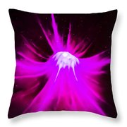 Purple Universe Throw Pillow