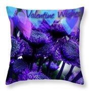 Purple  Valentine Throw Pillow