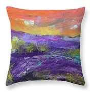 Purple Valley Throw Pillow
