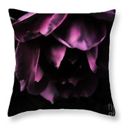 Purple Velvet Rose Throw Pillow