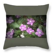 Purple Vintas Flower Photograph Throw Pillow