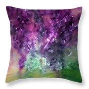 Purple Vortex Painting Throw Pillow