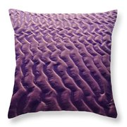 Purple Waves Of Sand Throw Pillow