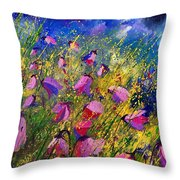 Purple Wild Flowers  Throw Pillow