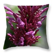 Purple Wildflower Throw Pillow