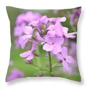 Purple Wildflowers Two Throw Pillow