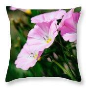 Purple Wildlfowers Throw Pillow