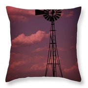 Purple Wind Throw Pillow