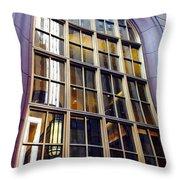 Chicago Golden Purple Window Panes Throw Pillow