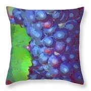 Purple Wine Grapes 2017 Throw Pillow