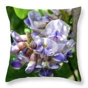 Purple Wisteria Throw Pillow