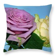 Purple With Yellow Throw Pillow