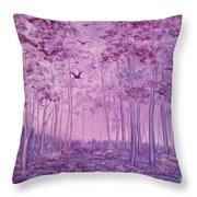 Purple Woods Throw Pillow