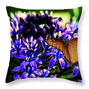 Purple World Throw Pillow