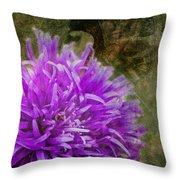 Purple Zinnia Throw Pillow