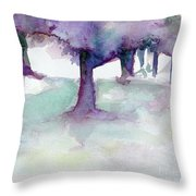 Purplescape II Throw Pillow