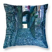Purplesteps Throw Pillow