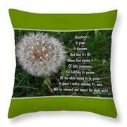 Purpose Throw Pillow by Leona Atkinson