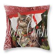 Purr Fect Present Throw Pillow