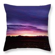 Puruple Sunset Throw Pillow