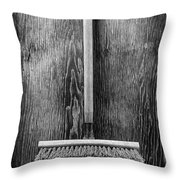 Push Broom Throw Pillow