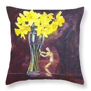 Push Throw Pillow