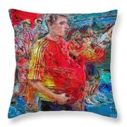 Pushing The Envelope Or Under The Hood Throw Pillow