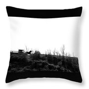 Pushing Through Modernization - Missouri Throw Pillow