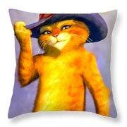 Puss In Boot Throw Pillow
