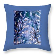Pussy Willow Abstract Throw Pillow