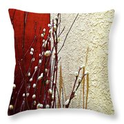 Pussy Willow Corner Throw Pillow