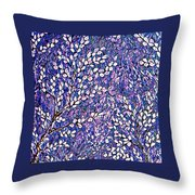 Pussy Willow Mosaic Throw Pillow